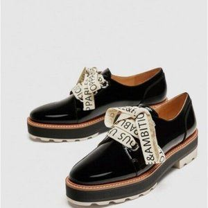 ZARA PLATFORM SHOES! Oxford Brogue Style
